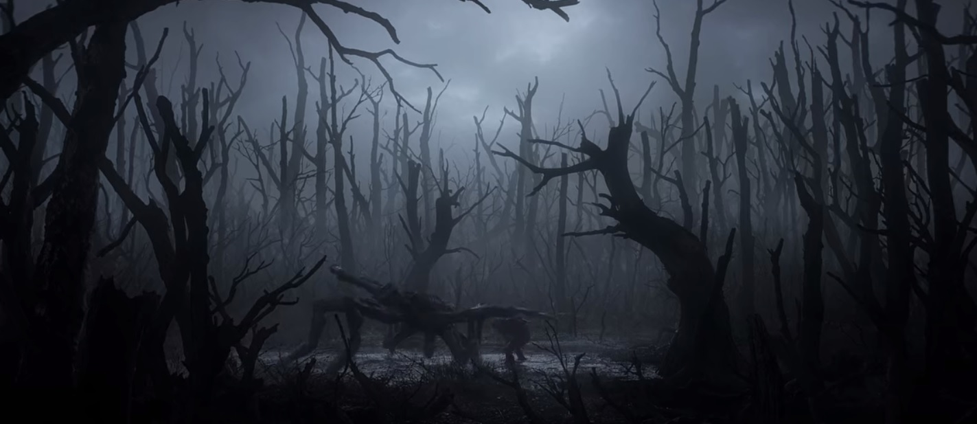 SPOILER ALERT: at one point, Geralt fights a monster in a gloomy swamp.
