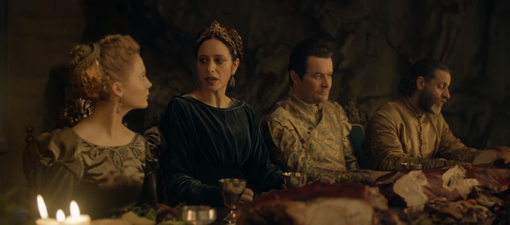 Queen Calanthe (second from the right) is another character that makes a strong impression in relatively little screen time.