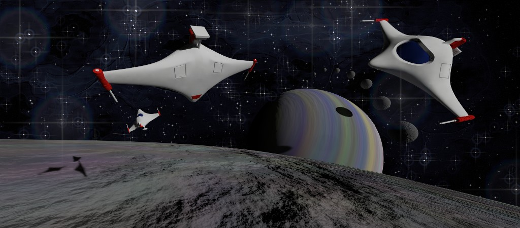 Space ships in space!