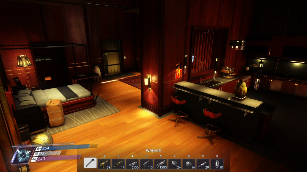 This is part of Alex's apartment. On top of this, he has an 'office', which is basically a house at the top of the arboretum. Morgan has similar space, PLUS the whole simulation wing was dedicated to housing her for the past N months. These two take up a lot of space!