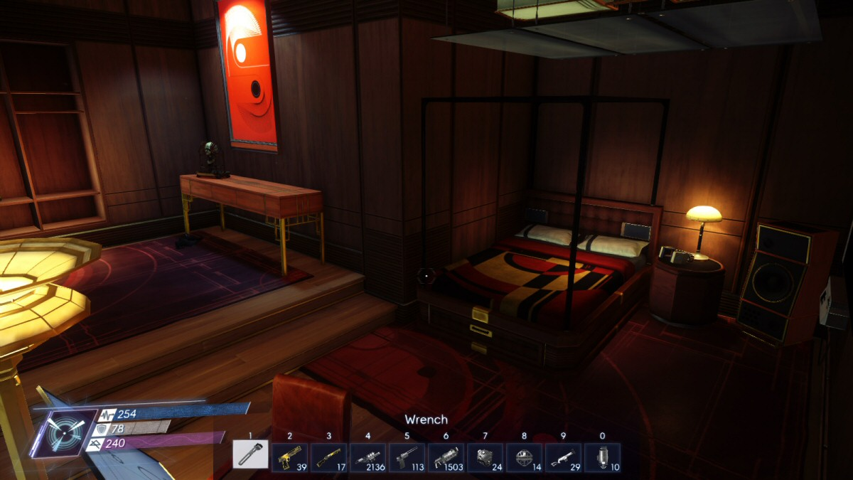 The crew section has 12 beds like this one for the 250 station inhabitants to use. If they all shared, then everyone gets a bed for about an hour a day.