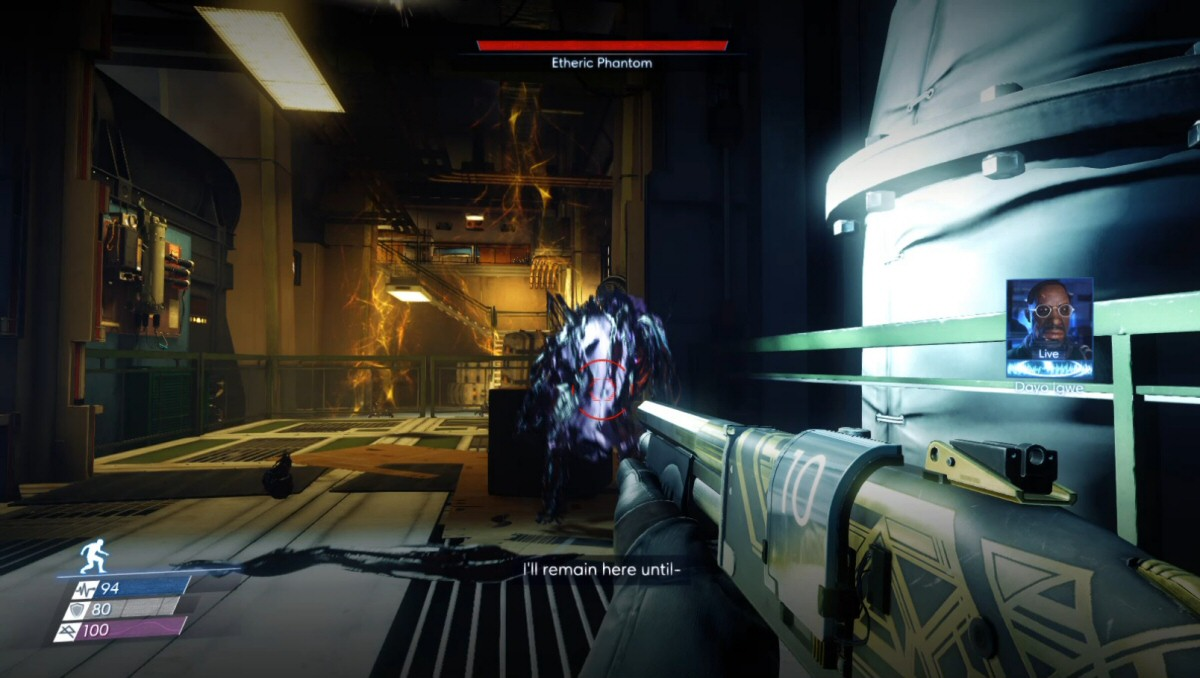 When playing, I popped out of the grav shaft to find this phantom in my face and began panic-firing. It wasn't until I reviewed this footage that I saw the phantom was facing away from me and maybe crouching?
