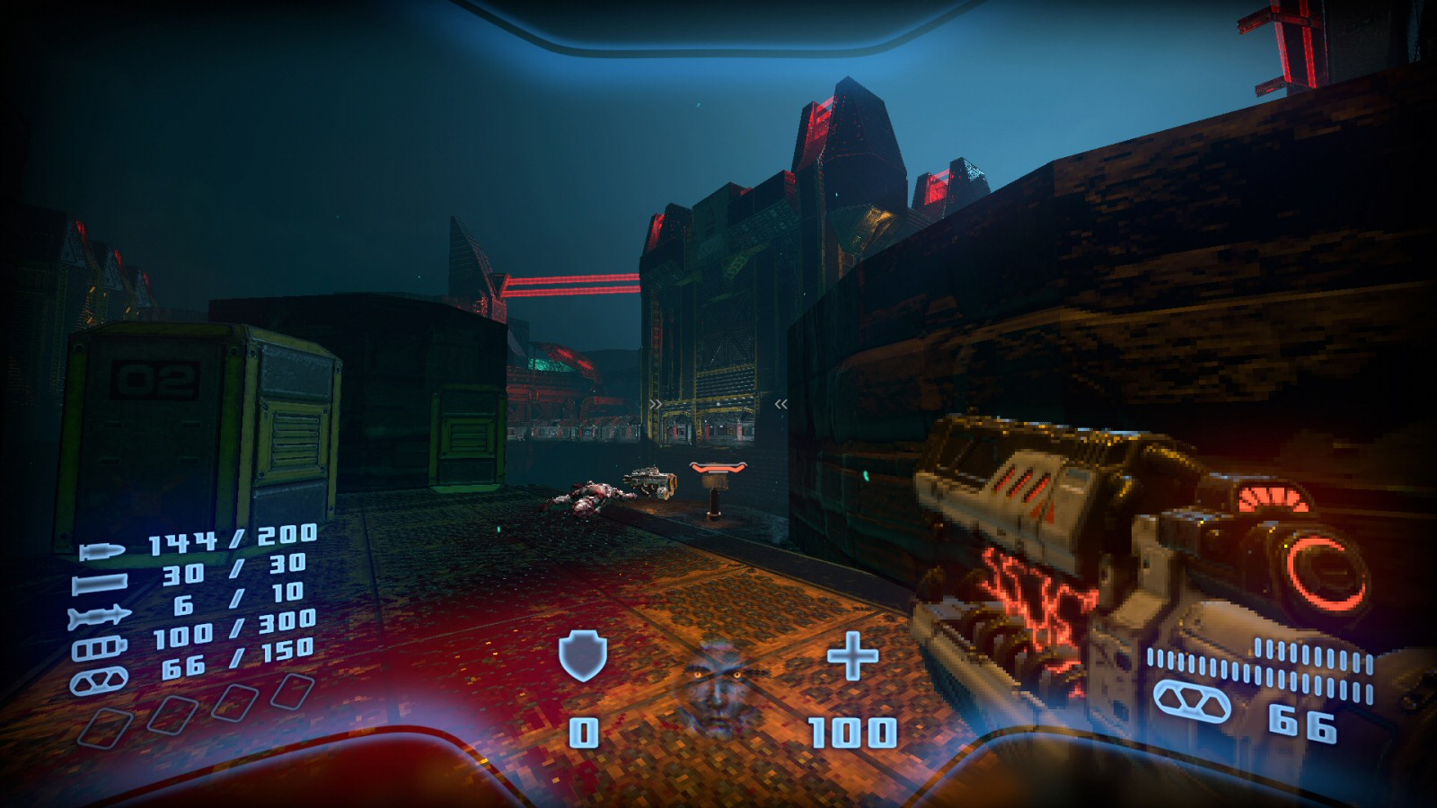 This is some classic Valve-style level design. At the start of the level there's a weapon off to one side. The player naturally moves to pick it up. Then the door in the distance opens to reveal some snipers. This makes sure you're looking in the right direction so you understand what's happening.
