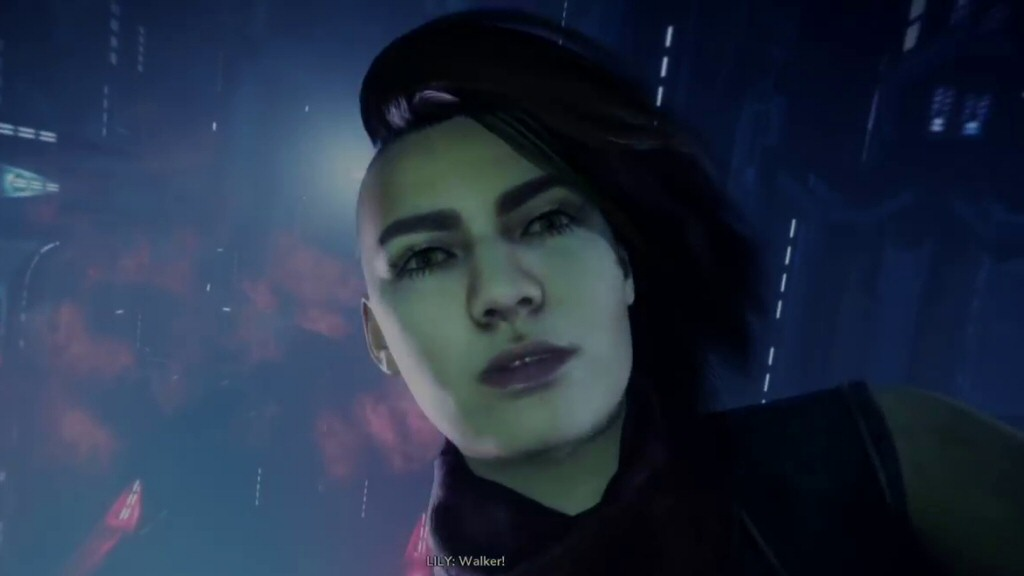 Oh hey, I remember you. You're that lady from the start of the game.