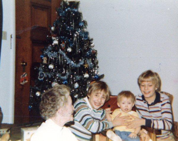 Left to right: Grandma, Shamus, Ruthie, and Pat.