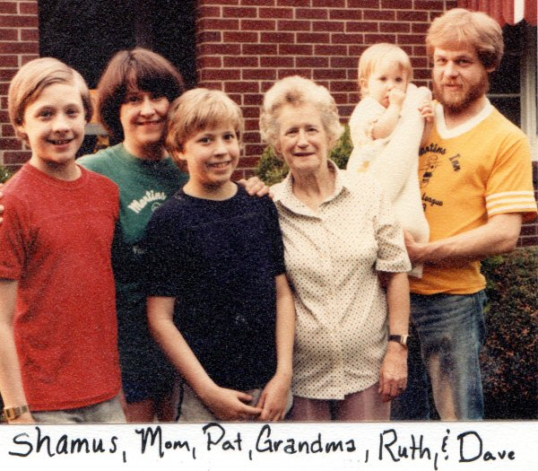 This was taken in 1984.  There are actually very, very few pictures of anyone during the Dark Year and the Reboot Year, 1981-1983.  At first there was nothing anyone wanted to remember, and then we were too busy forming a new family to take pictures.
