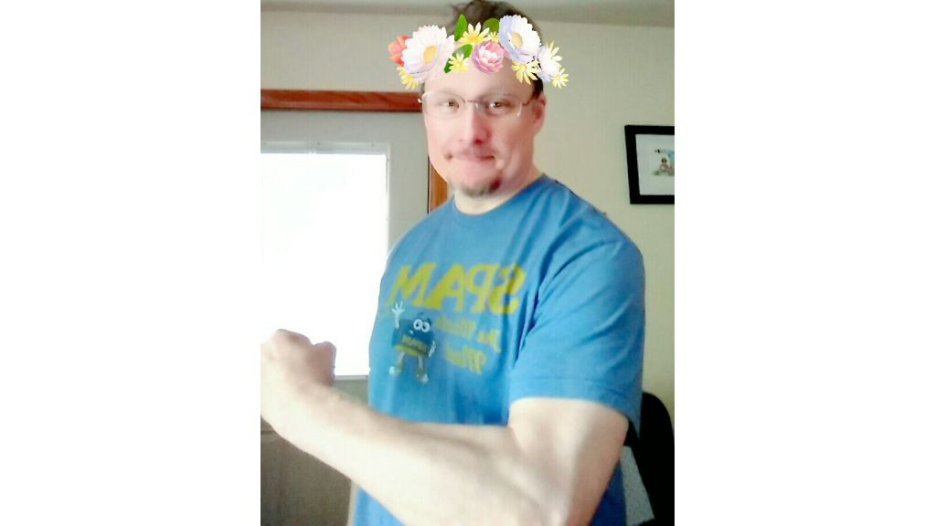 My daughter tried to make me look like an idiot with a snapchat filter. I tried to counteract the filter by flexing to look cool. It obviously backfired, so now I look like DOUBLE IDIOT.