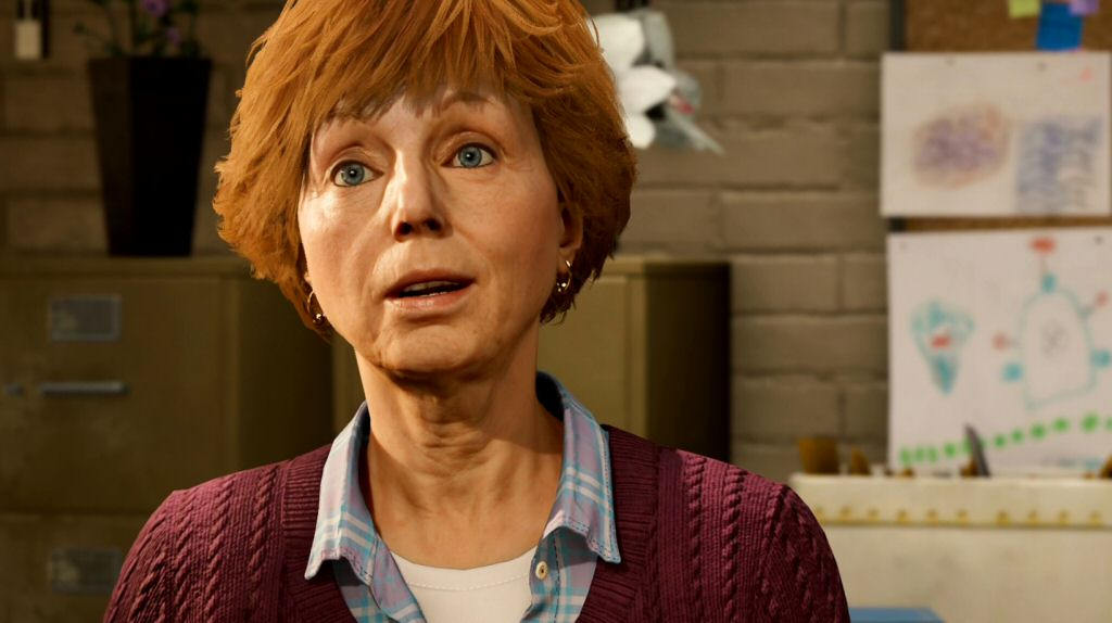I think there's something wrong with my graphics settings, because Aunt May's halo doesn't seem to be rendering.