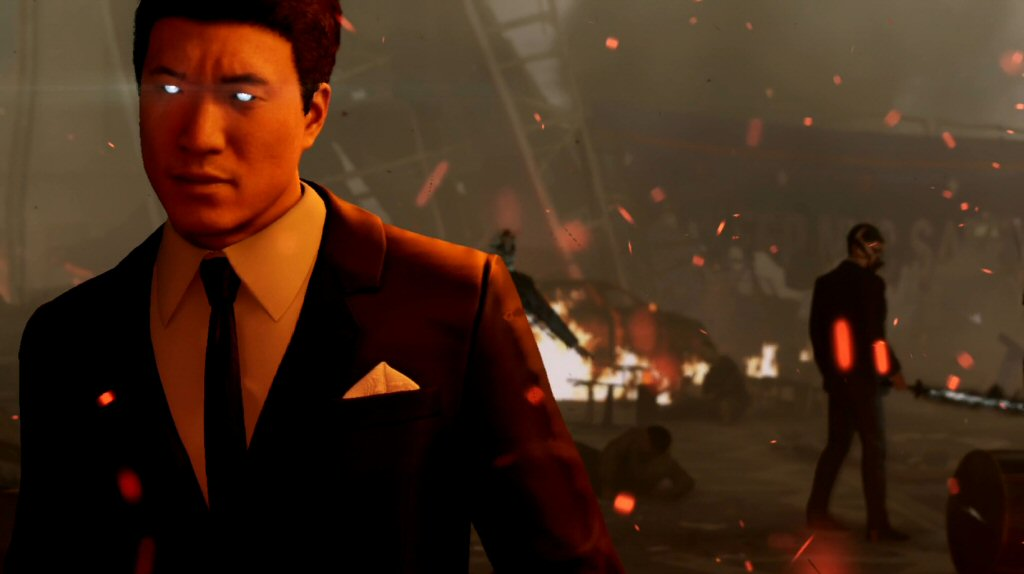 This is the big reveal that Martin Li is the leader of the Demons. Peter Parker is a block away, behind a bunch of debris, unconscious. There's no way he saw this.