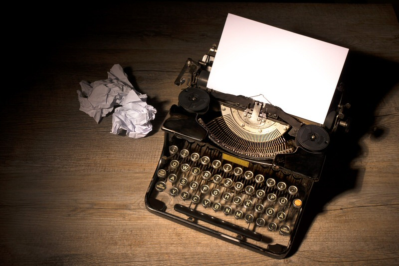 This stock photo of a typewriter represents the futility of all creative work as a hopeless effort to reach out to an indifferent world and convey meaning amidst a maelstrom of choas. Or maybe it's just filling page space. Whichever.