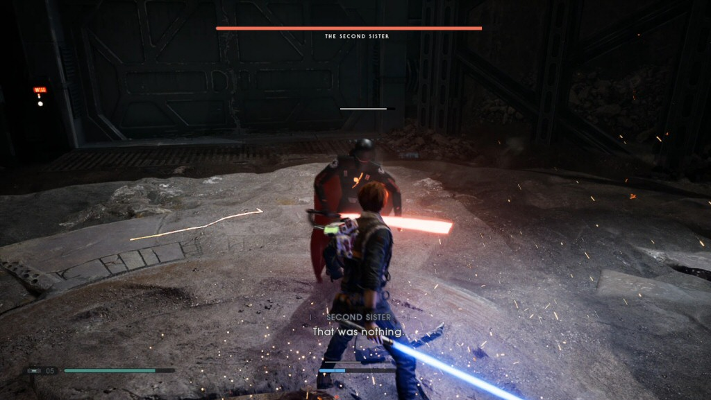 Ha! You only scratched me with that vertical lightsaber stroke through my chest!