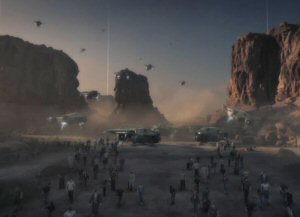 From the opening cinematic of the game: The last refugees from Earth exit the ships that delivered them from their burning homeworld.  Like the Tabula Rasa players that embody them, there just aren't very many.