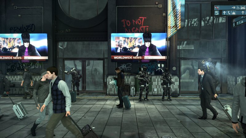 This shot is from the walking intro cutscene following the tutorial mission.