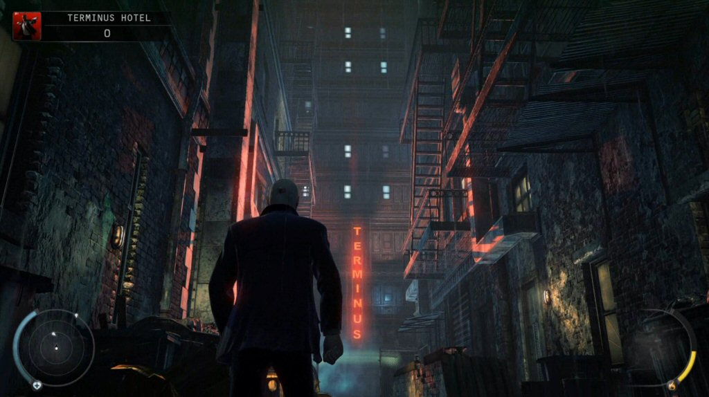 Terminus, get it? Huh? Because the Hitman kills people, right? Well, not in this mission. Or the next one. But he does terminate people. It's like a joke or something.
