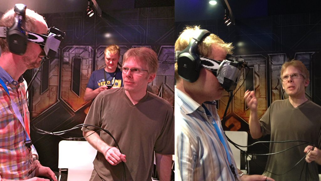 John Carmack takes some of his pet nerds for a walk.