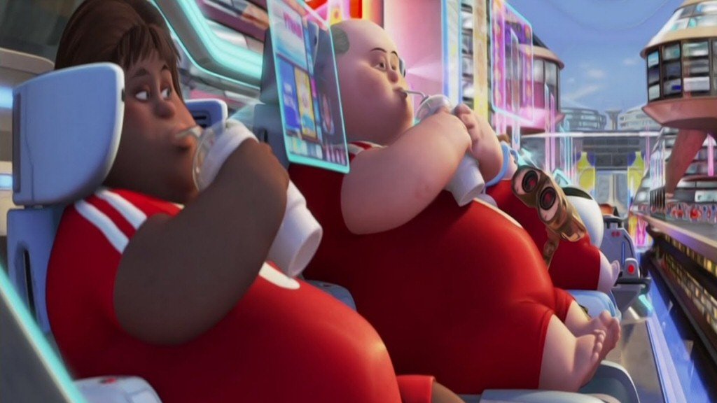 I actually thought that the utopia of idle dum-dums was the least realistic thing in Wall-E. No matter how good their life is, individual ambition, vanity, and the desire for novelty would quickly push these people to do stuff. Hedonism is far more chaotic than this.