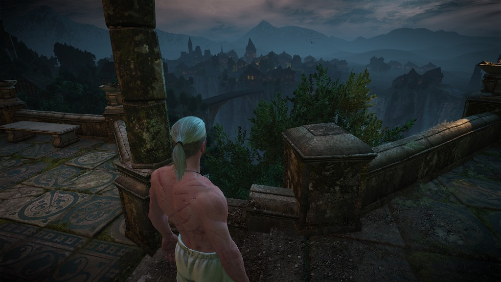 Tir na Lia, capital city of the Aen Elle. Someone put a lot of work into this skybox that the player will only see for a few minutes. Things like this, I think, show much care CDPR put into this whole Witcher thing.
