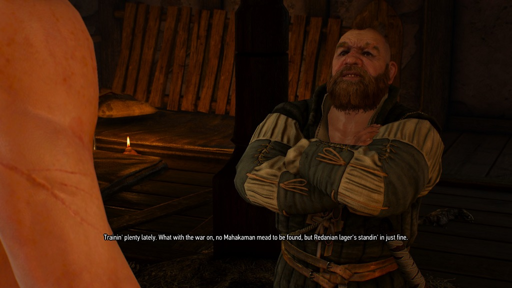 If I'm understanding this line correctly, Dwarves in the Witcher universe 'train' by drinking beer, which makes sense given everything else we know about them.