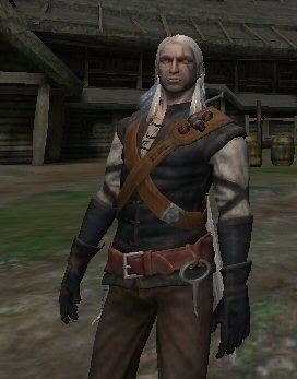 Hello ladies.  Meet Geralt, the famous Witcher and even more famous <em>sex machine</em>. You <em>know</em> you want him. Kiss his leathery pockmarked face and run your fingers through his mop of stringy grey hair. He&#8217;s just like Brad Pitt, except without the good looks, wealth, talent, or personal hygiene.